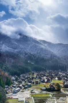 Shirakawa-go village, Japan - the World Heritage