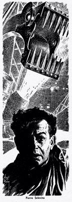 Virgil Finlay, The Death of Iron by S.S. Held, Wonder Story Annual 1952, P.15.