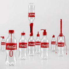 Una simple idea para reducir botellas vacías