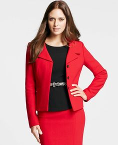 Ann Taylor - AT Suits - Double Crepe Hanover Jacket