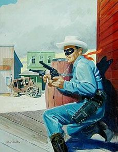 Lone Ranger cover painting by Hank Hartman.