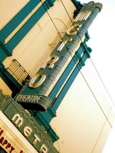 wonderfully warm neutrals and faded teal...: Metro Theatre  ~ via sfgirlbybay