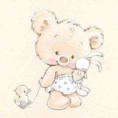 little bear nursery art Marina Fedotova - Tatty Teddy, Cartoon Mignon, Illustration Mignonne, Art Mignon, Cute Animal Illustration, Baby Painting, Cute Teddy Bears, Baby Art, Digi Stamps