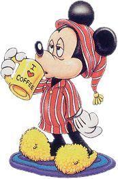 Mickey and coffee Mickey Minnie Mouse, Photos Mickey Mouse, Mickey Mouse And Friends, Mickey Mouse Cartoon, Retro Disney, Cute Disney, Disney Art, Mickey Mouse Wallpaper, Disney Wallpaper