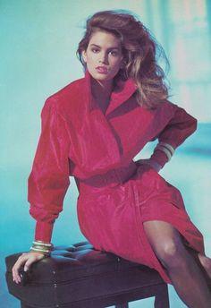 1987  Photographer: Arthur Elgort  Model: Cindy Crawford  (Source: 80s-90s-supermodels)