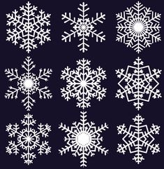 Free EPS file Different Snowflake pattern mix vector graphics 04 ...