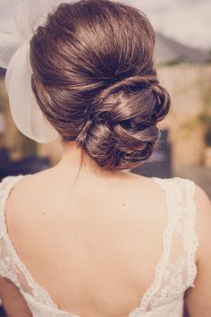 bun hair bride quirky beach wedding http://www.marcsmithphotography.com/