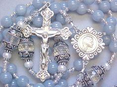 Angel Stone & Crystal Rosary...