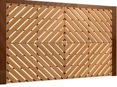 Resultado de imagem para portão da garagem de madeira vazada