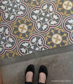 Cement Tile Shop - Handmade Cement Tile | Roseton Red