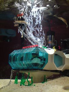 Lego Fish Tank Model: Underwater Station (1 of 2) by fridgeuk, via Flickr