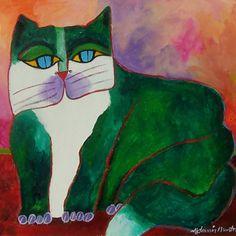 aldemir martins - gato verde