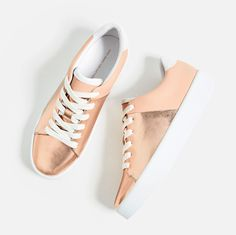 LAMINATED CHUNKY SOLE PLIMSOLLS-SHOES-WOMAN-COLLECTION SS/17 | ZARA United States