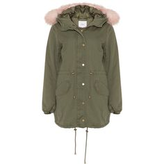 Zizzi Khaki-Green Plus Size Faux fur trimmed parka ($105) ❤ liked on Polyvore featuring outerwear, coats, plus size, khaki parkas, parka coats, womens plus coats, green coats and green parkas