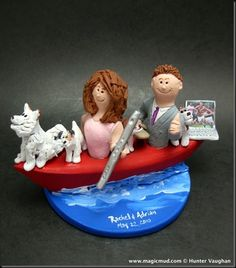 Flute Player's Wedding Cake Topper   …another great musically themed wedding cake topper…this time for a bride to be who loves to play the flute….  $235#flute#kayak#canoe#wedding #cake #toppers  #custom #personalized #Groom #bride #anniversary #birthday#wedding_cake_toppers#cake_toppers#figurine#gift    …and a fondness for kayaking is something they both share big time…they love going out in their tandem kayak together…
