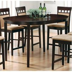 Bundle-43 Wildon Home   Derby Counter Height Dining Table (5 Pieces)