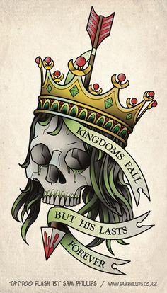 Résultats Google Recherche d'images correspondant à http://tattooos.org/wp-content/uploads/2016/01/Skull-With-Crown-Tattoo-Design-1.jpg