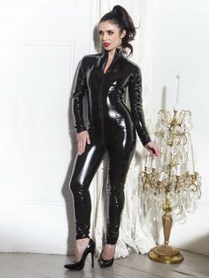 Free Shipping Sexy Black Catwomen Jumpsuit Spandex Latex PVC Catsuit Costumes for Women Body Suits Fetish Leather Catsuit S-XXL