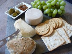 How To Make a Rustic Vegan Cheese Board--with links to lots of specialty cheeses