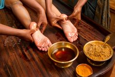Padabhyanga is Ayurvedic foot massage using medicated oils(or) medicated ghee. The feet are very important part in our body as it contains many nerve endings. So padabhyanga is central to our health and wellbeing. This massage is soothing , revitalizing, calming and balancing various disturbances of the autonomic nervous system. Contact: +91-9880522255 ; 080-41666641  sales@aadyaresort.com http://aadyaresort.com/packages.php