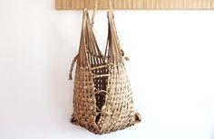 African Woven Basket / African Straw Bag, Primitive, Folk Decor on Etsy, $48.00