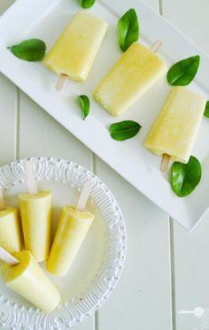 mango and yogurt ice pops