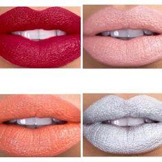 So Many Beautiful, Bold Lipstick Colors to Choose From at KAOIR.com | KeyshiaKaoir.com Bold Lipstick, Lipstick Colors, Lip Colors, Makeup Art, Lip Makeup, Makeup Tattoos, Perfect Makeup, Face And Body, Eyeshadow