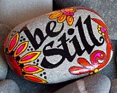 Calm by the Sea / Painted Rock / Sandi Pike Foundas / Cape Cod. $29.00, via Etsy.