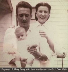 Steve Perry in 1949 with parents Raymond & Mary Perry. His heritage is Portuguese and explains his warm loving down to earth personality.
