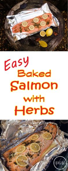 Salmon with Herbs Fish Feed our Future Baked Salmon with Herbs ideal for entertaining a crowdBaked Salmon with Herbs ideal for entertaining a crowd Baked Fish, Baked Salmon, Shellfish Recipes, Seafood Recipes, Chicken Recipes, Recipe Using Salmon, Scotland Food, Great British Food, Scottish Salmon