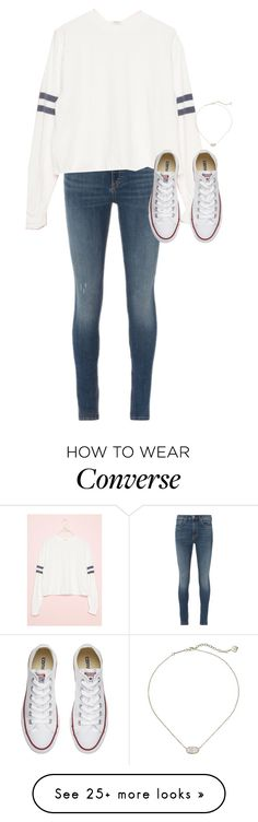 """""""Untitled #678"""" by dauntless-darling on Polyvore featuring rag & bone/JEAN, Converse and Kendra Scott"""