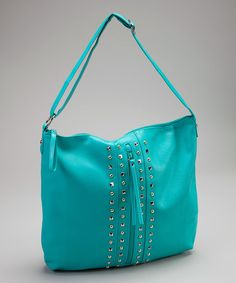 Take a look at this Turquoise Studded Hobo on zulily today!