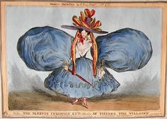 Modern Oddities by P. Pry (W. Heath). Plate 1st.   The Sleeves Curiously Cut. June 30, 1829.