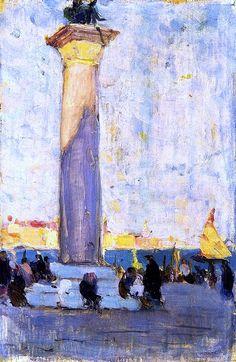 Clarence Gagnon - Last Rays, la Piazzetta, Venice
