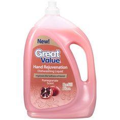 Great Value Pomegranate Scent Dishwashing Liquid, 60 oz