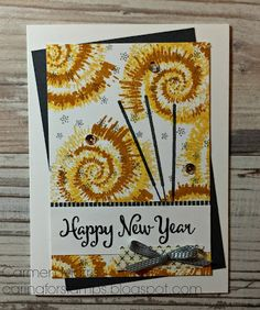 Stampin' Up! blog van Carmen Morris: Caring for Stamps: Spring/ Summer Catalog Countdown #5: Stampin' Up! ~ Tie Dyed to make fireworks