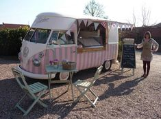 Pollys Parlour Ice Cream VW Campervan - just beautiful, she would look amazing at a wedding reception!