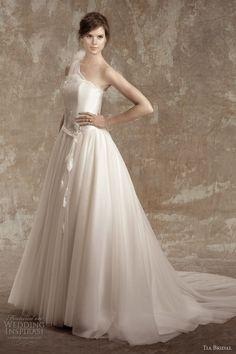 tia bridal wedding dresses 2013 romance one shoulder gown 5356