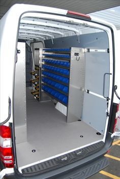 Check out our van shelving packages including racks and bins for cargo work vans! Featuring & Commercial Van Shelving Equipment and Interiors | Van Ladder Racks ...