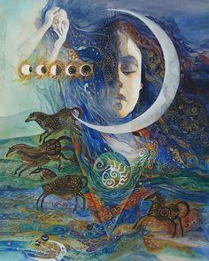 """Epona, Goddess of Horse"" par Helena Nelson-Reed"
