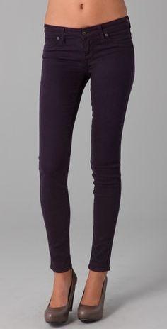 i want these. Eggplant skinnys <3