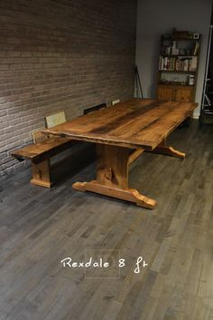 I WILL OWN THIS TABLE!!!!  Trestle Tables - HD Threshing | Reclaimed Wood Furniture