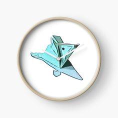 Hanging Origami, Modern Prints, Art Prints, Origami Mouse, Quartz Clock Mechanism, Hand Coloring, Top Artists, Printed, Metal