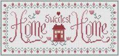 Resultado de imagem para cross stitch home sweet home