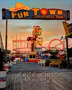 Help the victims of Hurricane Sandy- $10.00 from every sale will go to the Red Cross! Fine Art Photography  Funtown Pier Seaside NJ by DanaElyse on Etsy, $15.00