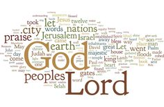 Words from the Sixth Week of Easter. Created on Wordle by Mike Gilbertson