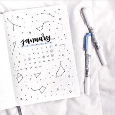 """3,834 Likes, 13 Comments - bullet journal inspiration. (@bullet.journals) on Instagram: """"How is your January going so far? this lovely image is by @letteringwithleni // Use the tag…"""" #diary"""