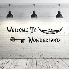 Alice in Wonderland Wall Decal devis vinyle autocollant Stickers citations Bienvenue à Wonderland Wall Decal devis Wall Decor pépinière chambre ZX19