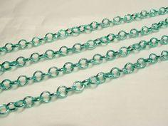2 metres x Metal Belcher Chain - BNChain24 Green | eBay
