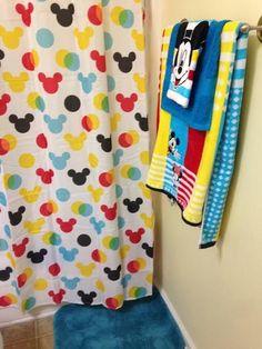 Bathroom Decor themes Mickey Bathroom Makeover - Couponing to Disney Mold In Bathroom, Modern Bathroom Decor, Bathroom Kids, Bathroom Colors, Hall Bathroom, Little Boy Bathroom, Bathroom Images, Kids Bath, Simple Bathroom